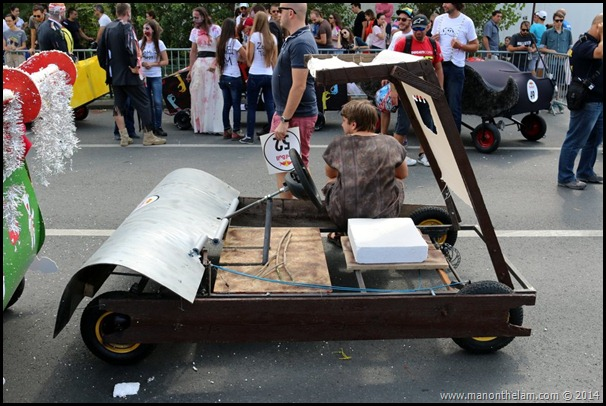 Red Bull Soapbox Race Bucharest Romania -- the Flintstones car design