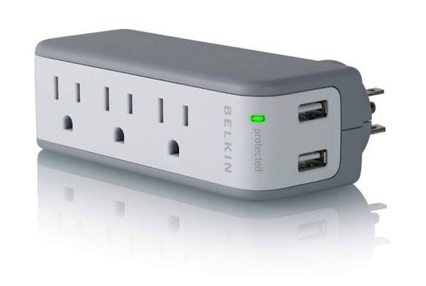 Belkin Surge Protector Travel Charger with USB ports stocking stuffer Christmas gift ideas