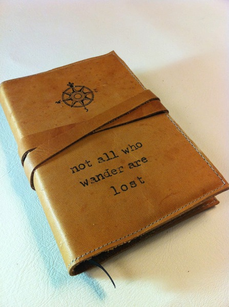 Customized leather journal stocking stuffers for men Christmas gift ideas