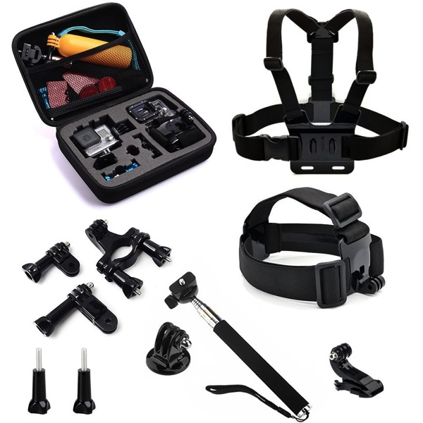 GoPro Hero Case and Accessories stocking stuffers for men who travel Christmas gift ideas