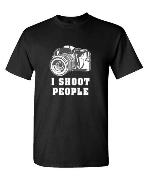 I Shoot People men s t shirt Stocking Stuffers for Men Christmas gift ideas