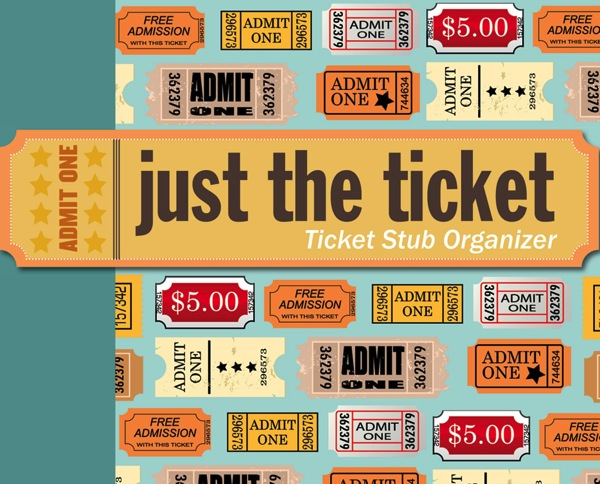 Just the Ticket Ticket Stub Organizer Christmas stocking stuffers for men who travel