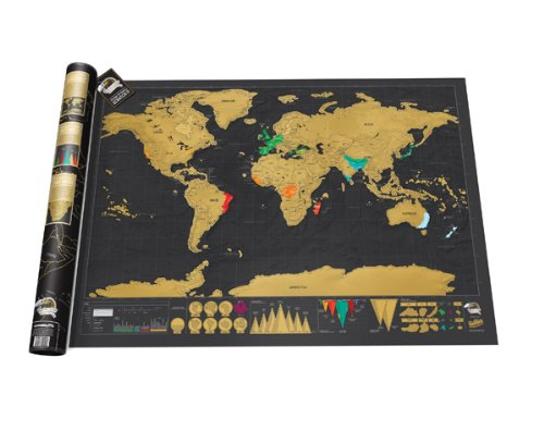 Scratch Map Stocking Stuffers for Men Christmas Gift Ideas