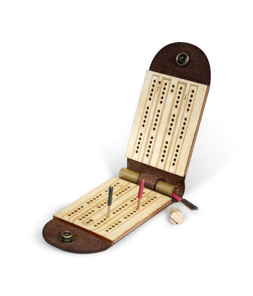 Travel Cribbage Board Christmas stocking stuffers for men