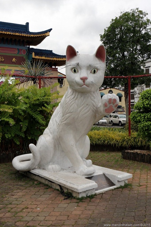 Cat sculpture, City, Kuching, Borneo, Malaysia