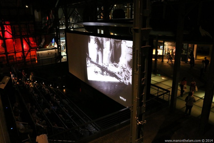 Warsaw Uprising Museum, Poland -- Cinema with a film reconstructed of newsreels