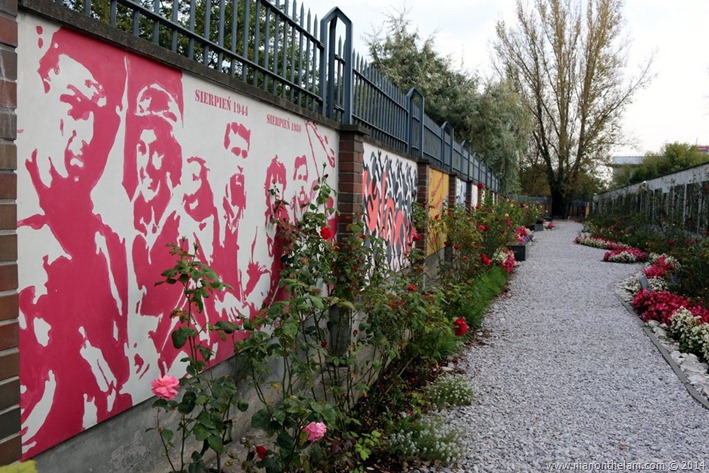 Warsaw Rising Museum, Poland -- Freedom park: street art inspired by the Warsaw Uprising
