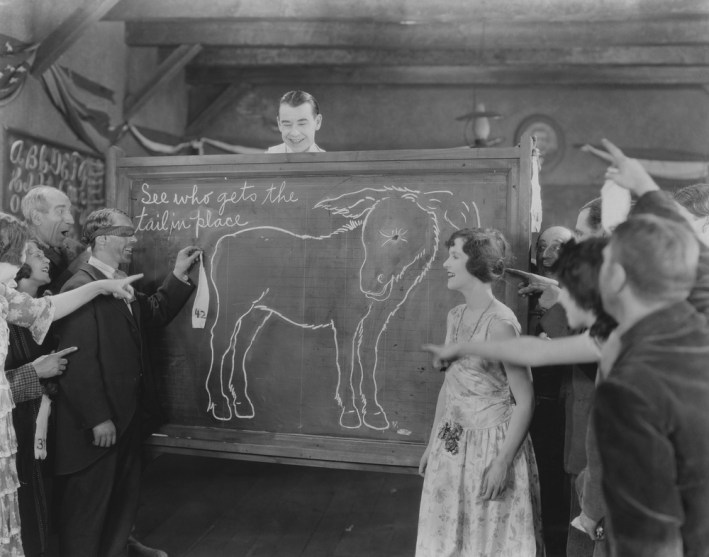 Vintage Pin the Tail on the Donkey game