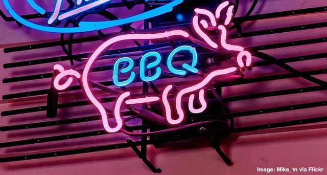 BBQ Pork Pig neon sign
