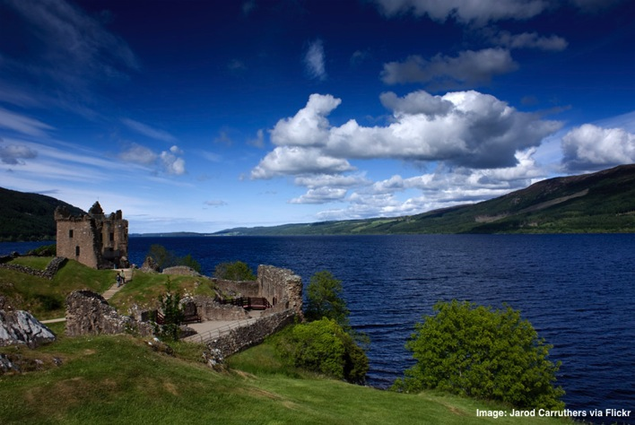 Castle Urquhart at Loch Ness Scotland