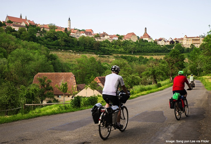 Bike trip in Rothenburg Germany