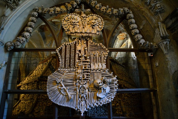 The Bone Church of Kutna Hora Man On The Lam Top 100 Travel Blog Posts of 2015 so far by social media shares  Prague church of bones