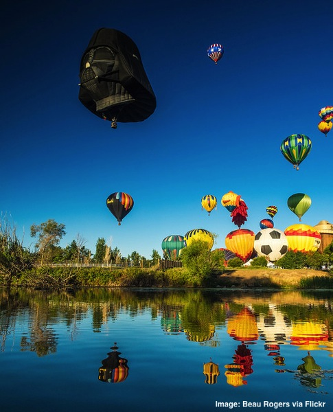Great Reno Balloon Race Darth Vadar hot air balloon