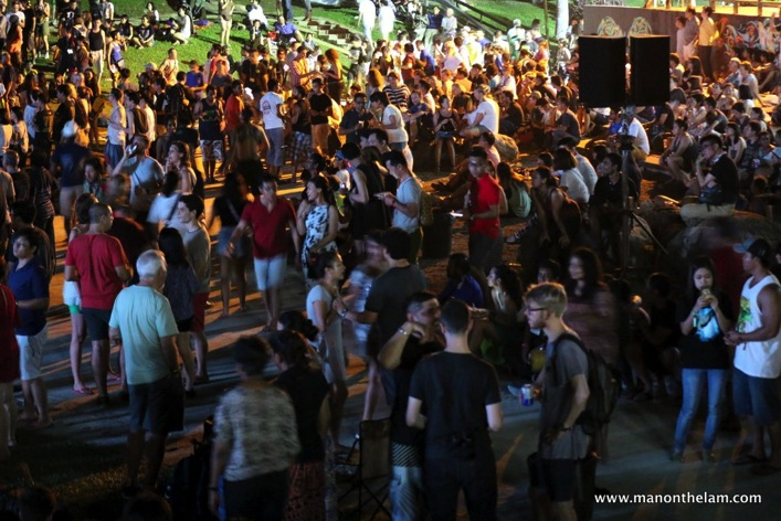 Rainforest World Music Festival Sarawak Borneo Malaysia -- festival goers