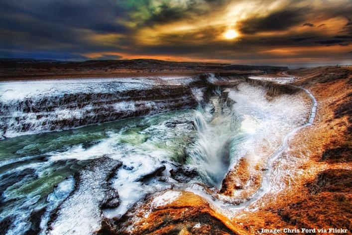 Golden Circle Iceland Gulfoss Waterfall