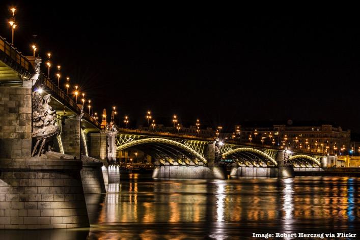 Budapest Hungary at Night
