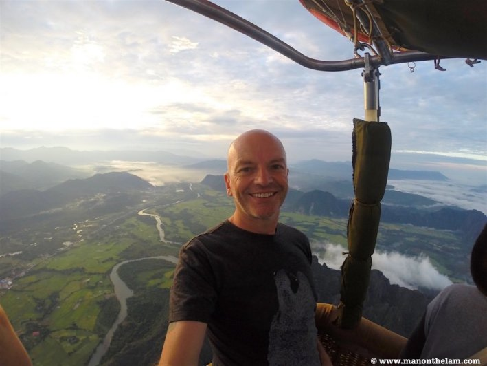 Raymond Walsh -- Hot Air Balloon ride -- Vang Vieng, Laos