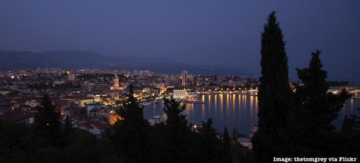 Split Croatia at night