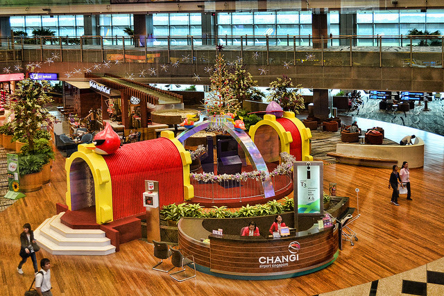 Changi Airport Singapore Christmas decorations