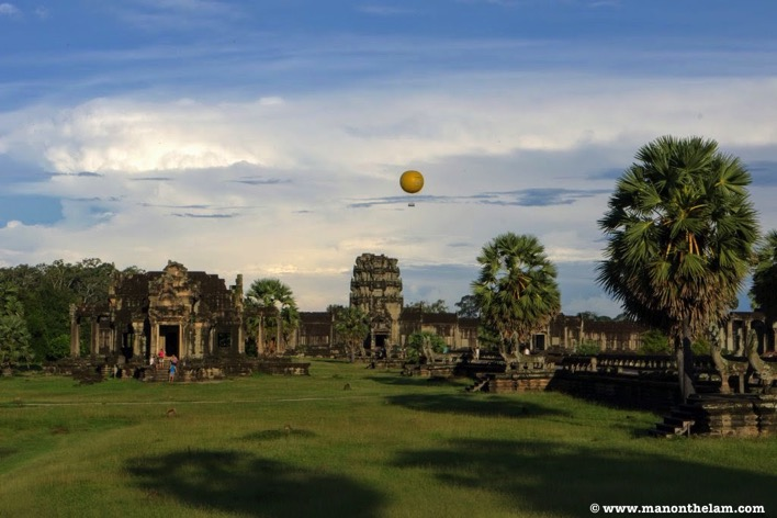 Hot air balloon over Siem Reap Cambodia
