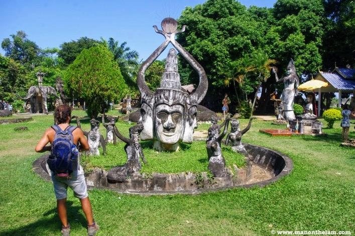 Hindu statues Buddha Park Vientiane Laos