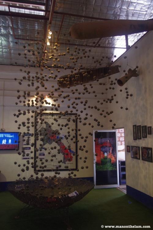 COPE Visitor Centre Vientiane Laos cluster bomb art