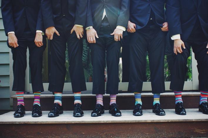 Fashion men vintage colorful shoes