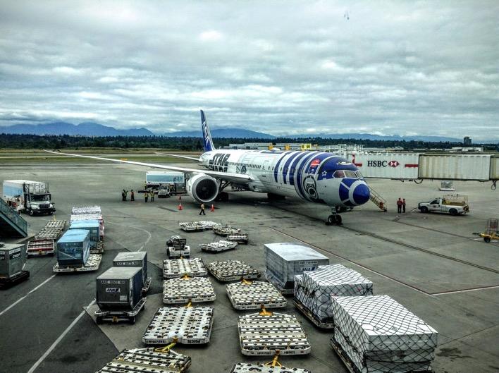 Star Wars ANA airplane Japan All Nippon Airways