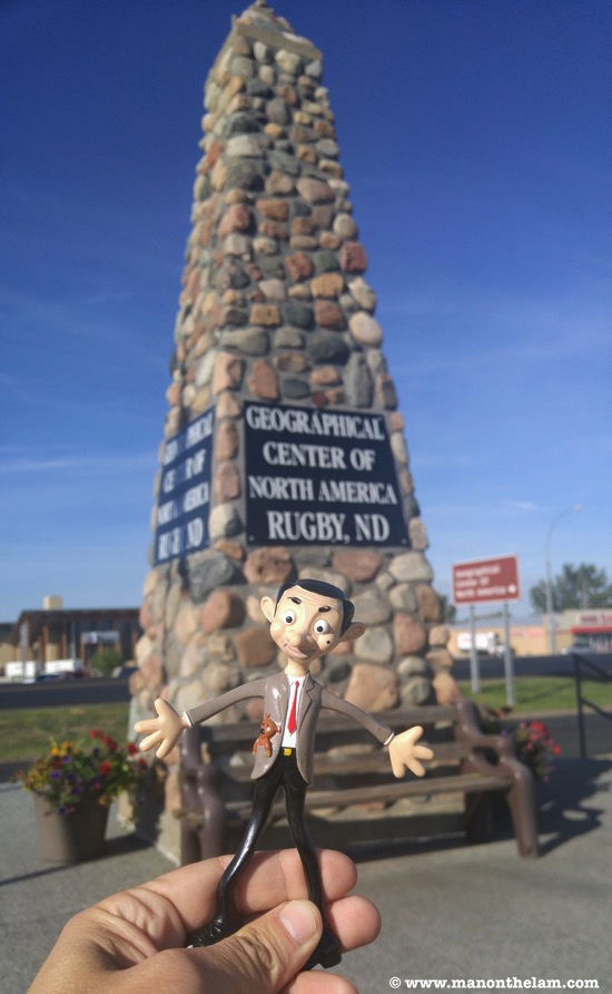 Geograpical Center of North Amerca Rugby North Dakota Mr Bean