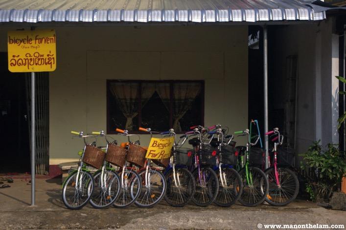 Bike for rent Vientiane Laos