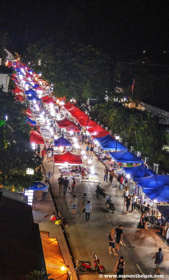 Luang Prabang Night Market shopping things to do in Luang Prabang Laos