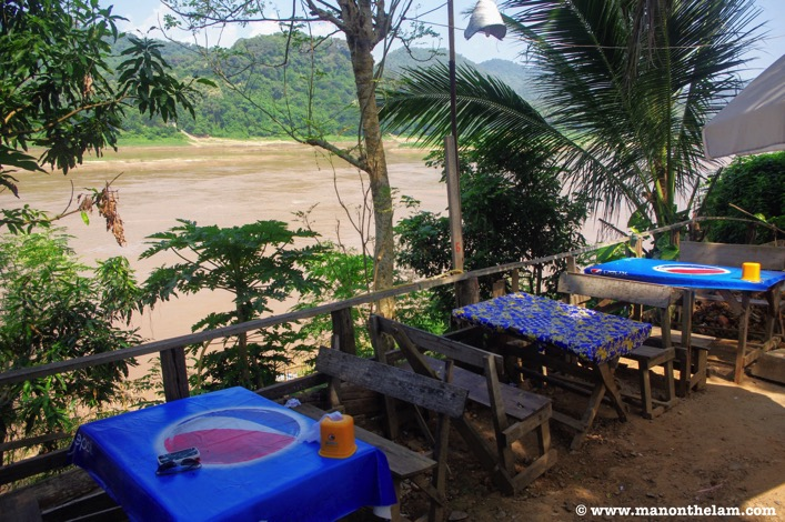 Lunch along the Mekong river Luang Prabang Laos