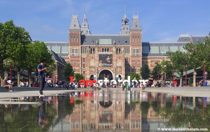 IAmsterdam sign Amsterdam Netherlands Rijks museum