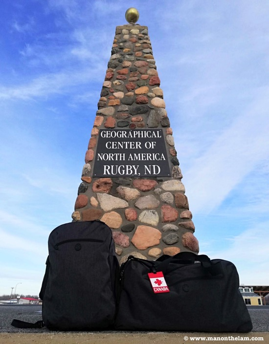 Tortuga Setout Duo Bundle Review Geographical center of North America monument Rugby North Dakota