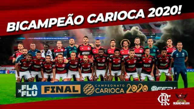 É BICAMPEÃO! Mengão derrota o Fluminense e levanta título Carioca 2020