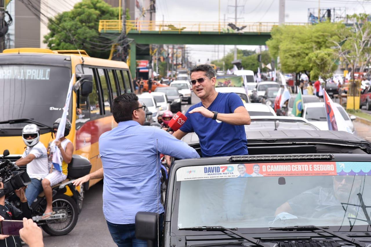 Em carreata, David reafirma compromisso com Manaus