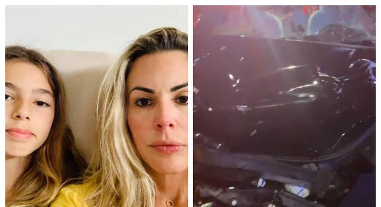 'Horrível': Joana Prado e filha sofrem grave acidente de carro