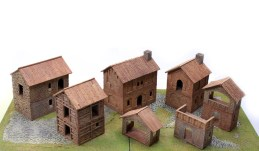 Components of kit: Medieval Village - 01