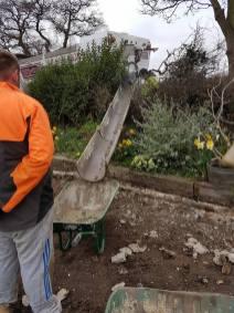 Marking up & digging out shed base goldhanger7