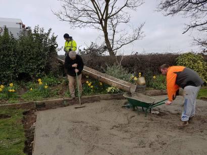 Marking up & digging out shed base goldhanger8