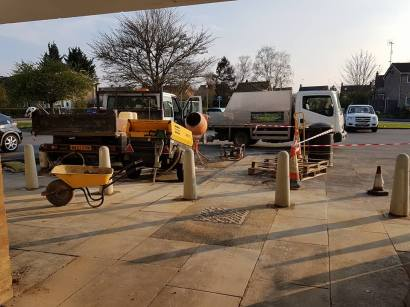 Putting in bollards at havengore Chelmsford9