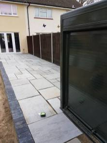 Removal of existing patio crushed concrete has been laid and levels have been made( St Nicholas Road Tillingham)5