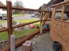 Taking down existing boundary fence Langdon Hills Basildon(before)5