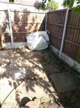 Clearing away old shed and rubbish preparing for concrete shed base Burnham-on-Crouch before 2