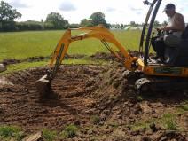 Digging out a pond goldhanger Maldon 3
