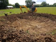 Digging out a pond goldhanger Maldon 5