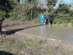 Pouring concrete - dengie marshes 4