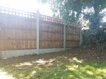 Taking down existing boundary fence( Burnham-on-Crouch) before 4