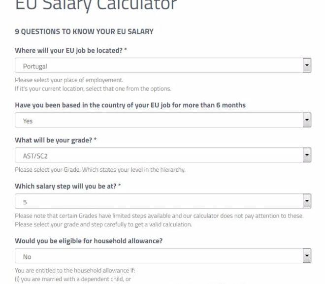 EU Salary Calculator