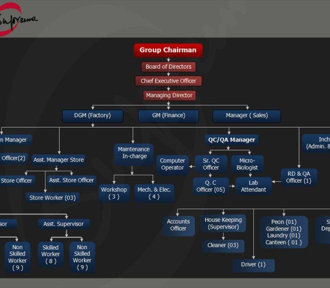 Pharmaceuticals Organization Chart